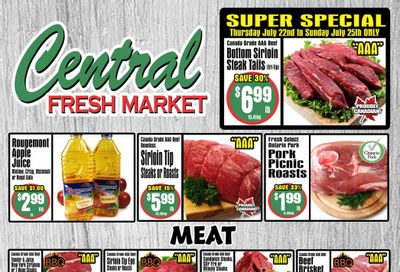 Central Fresh Market Flyer July 22 to 29