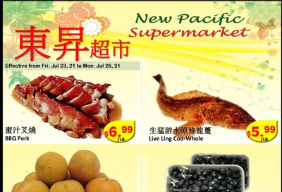 New Pacific Supermarket Flyer July 23 to 26