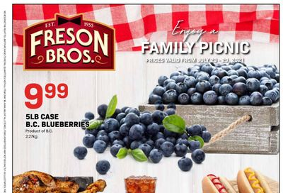 Freson Bros. Flyer July 23 to 29