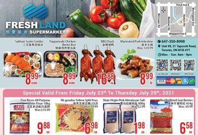 FreshLand Supermarket Flyer July 23 to 29