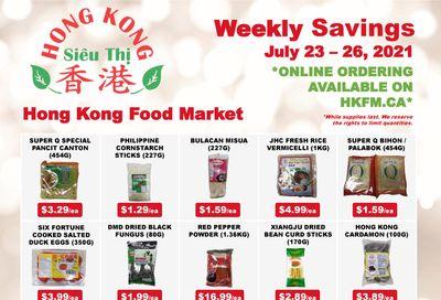 Hong Kong Food Market Flyer July 23 to 26