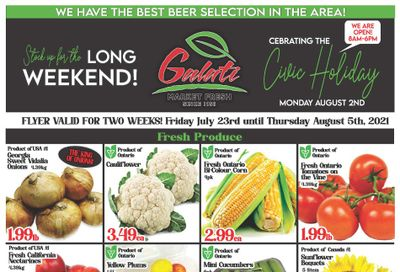 Galati Market Fresh Flyer July 23 to August 5