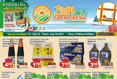 Farm Fresh Supermarket Flyer July 23 to 29