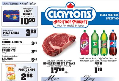 Claytons Heritage Market Flyer July 23 to 29