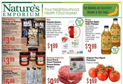 Nature's Emporium Flyer July 23 to August 5