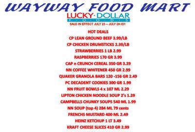 WayWay Food Mart Flyer July 23 to 29