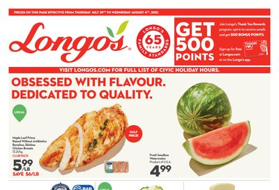 Longo's Flyer July 29 to August 4