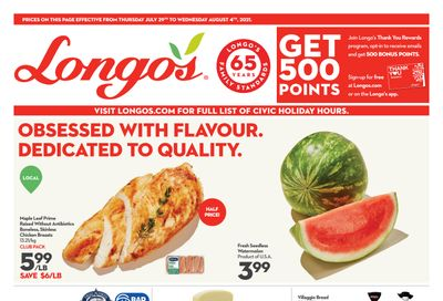 Longo's (Ancaster & Liberty Village) Flyer July 29 to August 4