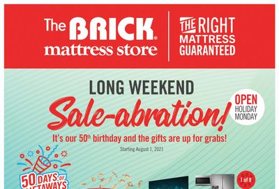 The Brick Mattress Store Flyer July 27 to August 4