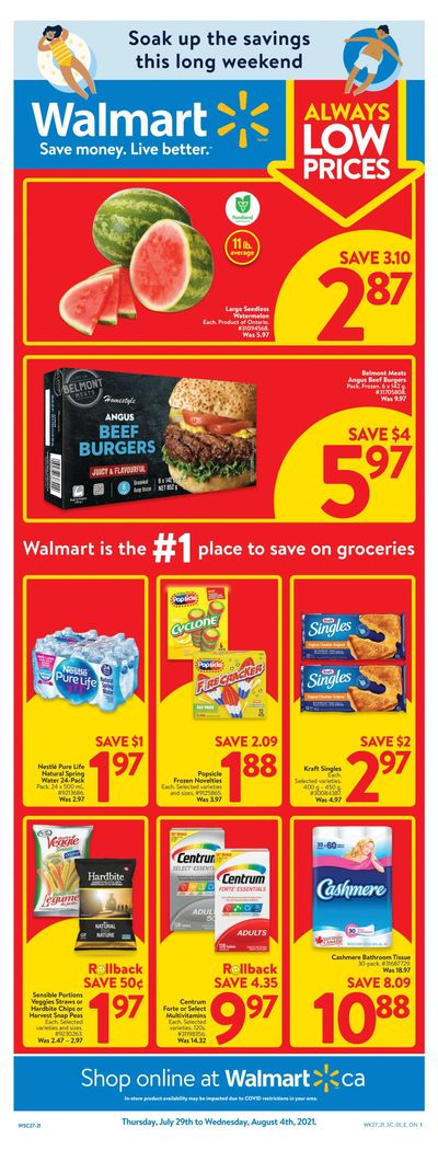 Walmart (ON) Flyer July 29 to August 4