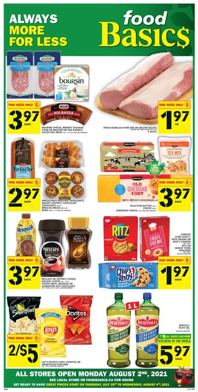Food Basics Flyer July 29 to August 4