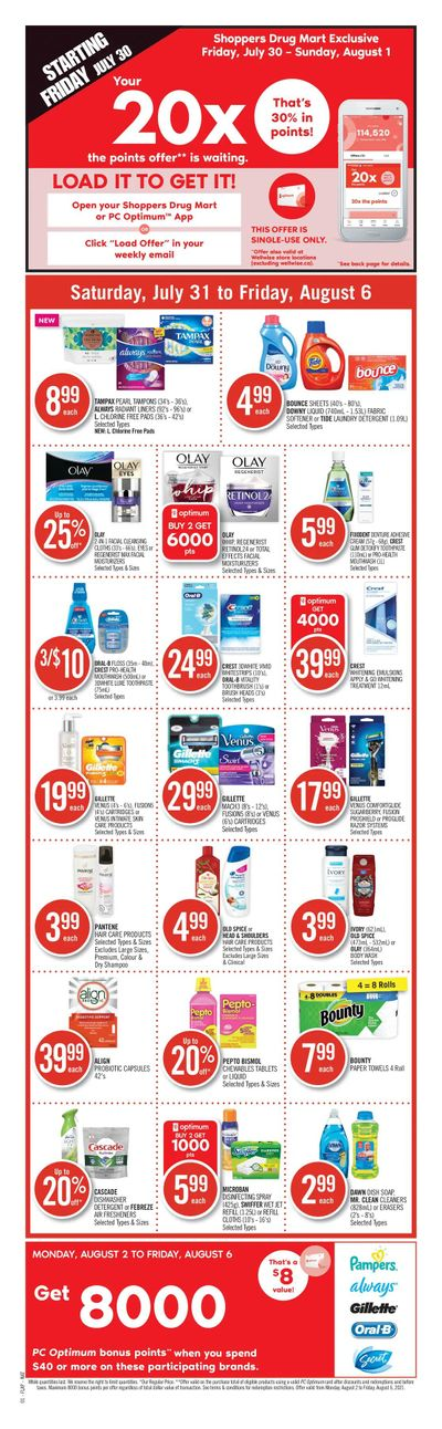 Shoppers Drug Mart (ON) Flyer July 31 to August 6
