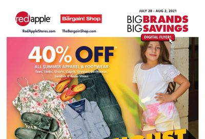 The Bargain Shop & Red Apple Stores Flyer July 28 to August 2