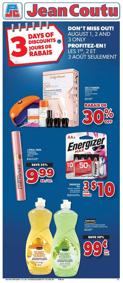 Jean Coutu (ON) Flyer July 30 to August 5