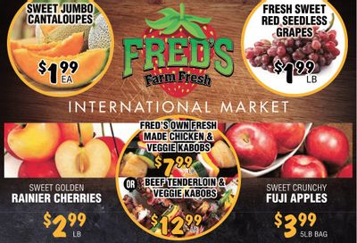 Fred's Farm Fresh Flyer July 28 to August 3