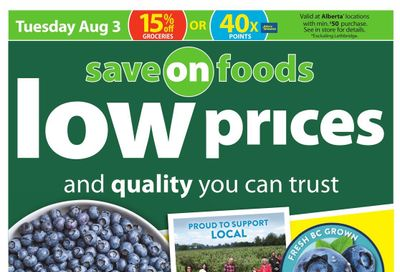 Save on Foods (AB) Flyer July 29 to August 4