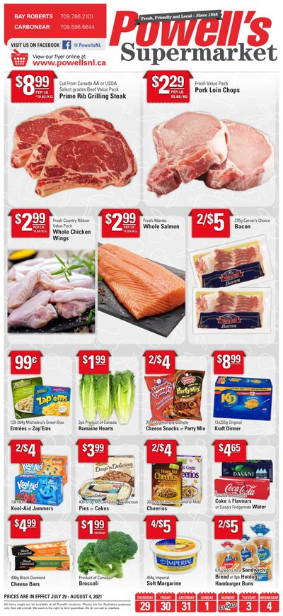 Powell's Supermarket Flyer July 29 to August 4