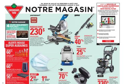 Canadian Tire (QC) Flyer July 29 to August 4