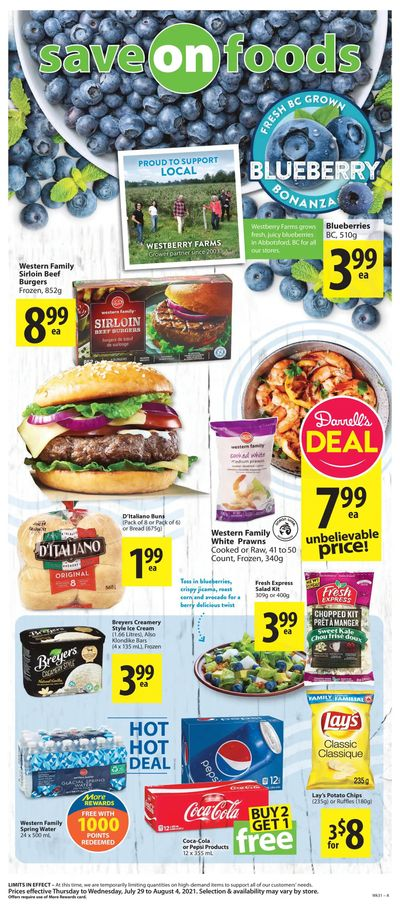 Save on Foods (BC) Flyer July 29 to August 4