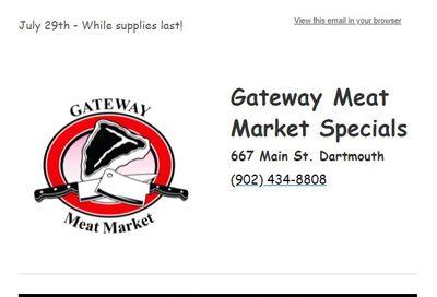 Gateway Meat Market Flyer July 29 to August 4