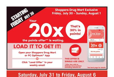 Shoppers Drug Mart (West) Flyer July 31 to August 6