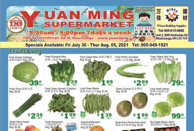 Yuan Ming Supermarket Flyer July 30 to August 5