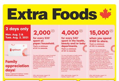 Extra Foods Flyer July 30 to August 5