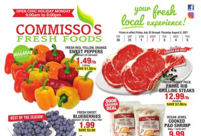 Commisso's Fresh Foods Flyer July 30 to August 5