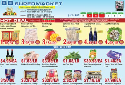 88 Supermarket Flyer July 29 to August 4
