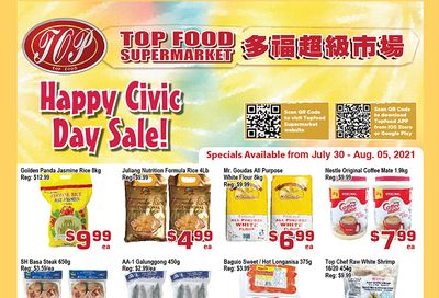 Top Food Supermarket Flyer July 30 to August 5