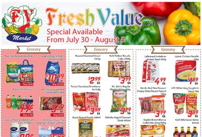 Fresh Value Flyer July 30 to August 5