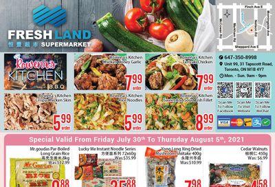 FreshLand Supermarket Flyer July 30 to August 5