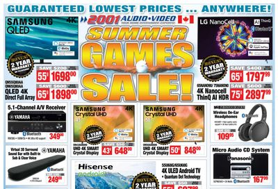 2001 Audio Video Flyer July 30 to August 5