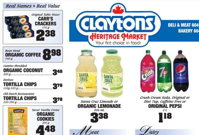 Claytons Heritage Market Flyer July 30 to August 5