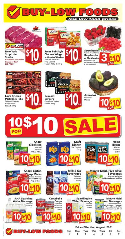 Buy-Low Foods Flyer August 1 to 7