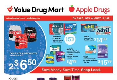 Apple Drugs Flyer August 1 to 14