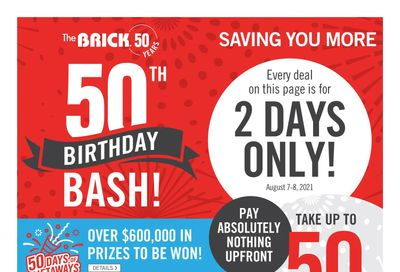 The Brick 50th Birthday Bash Flyer August 5 to 19