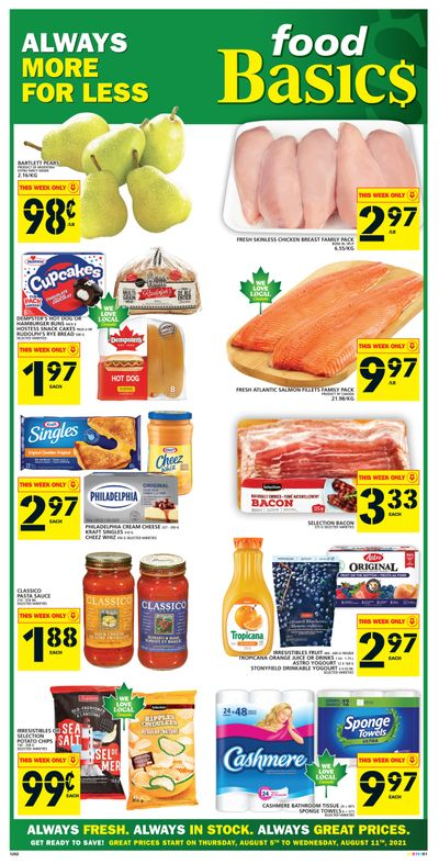 Food Basics Flyer August 5 to 11