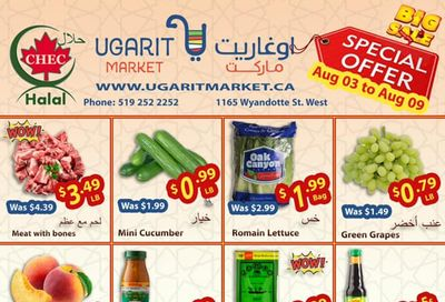 Ugarit Market Flyer August 3 to 9