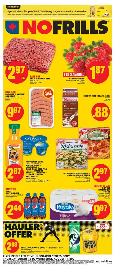 No Frills (ON) Flyer August 5 to 11