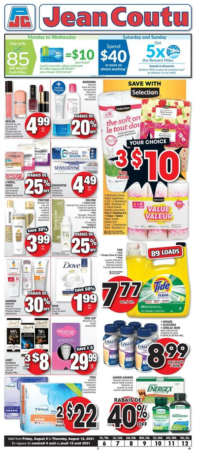 Jean Coutu (ON) Flyer August 6 to 12