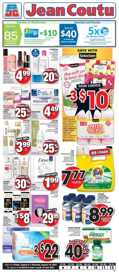 Jean Coutu (NB) Flyer August 6 to 12