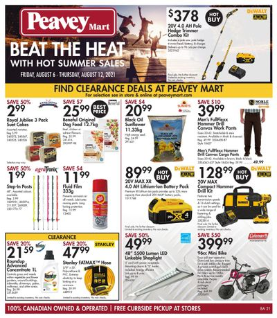 Peavey Mart Flyer August 6 to 12