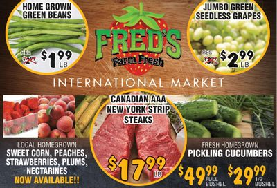 Fred's Farm Fresh Flyer August 4 to 10
