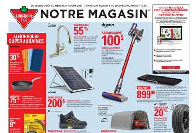 Canadian Tire (QC) Flyer August 5 to 11