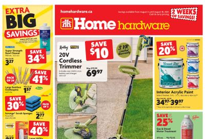 Home Hardware (Atlantic) Flyer August 5 to 18
