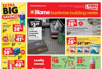 Home Hardware Building Centre (BC) Flyer August 5 to 18