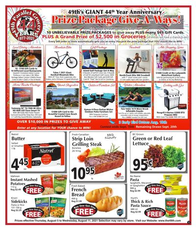 The 49th Parallel Grocery Flyer August 5 to 11