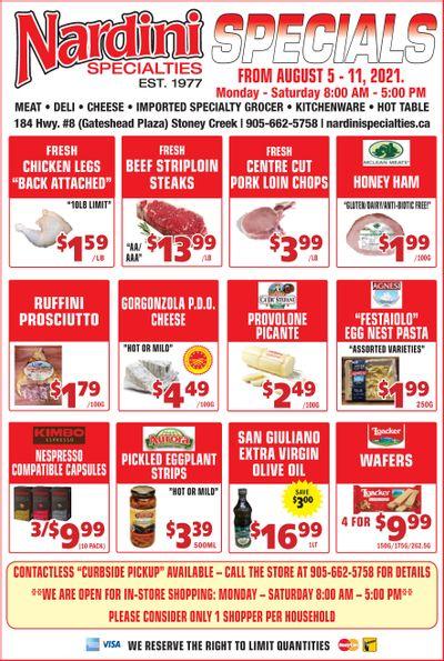 Nardini Specialties Flyer August 5 to 11