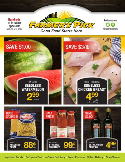 Farmer's Pick Flyer August 5 to 11
